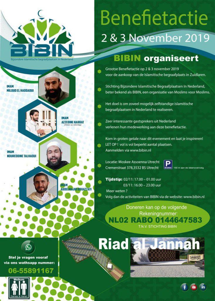 Benefietactie flyer